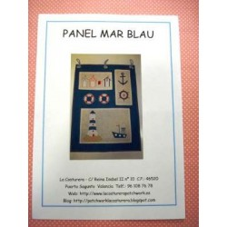 Kit con telas Panel Mar blau